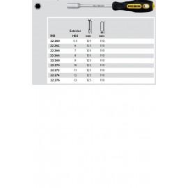 22260 Surubelnita cu cap tubular SW 5,5mm, Proxxon