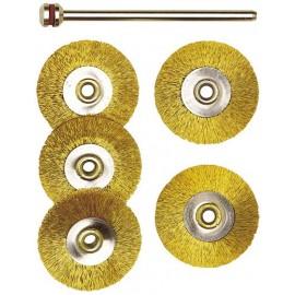 28962 Set perii din bronz miniatura pentru masini de gaurit, frezat, slefuit,, Proxxon