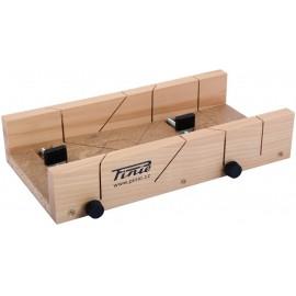 Cutie sablon din lemn cu 2 suruburi de reglaj pentru taiere la 45°/90°