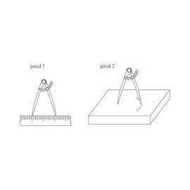 Compas mecanic cu aripa de blocare