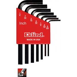 "Set chei lacas hexagonal  scurte 5/64""-1/4""  7 piese EKLIND SUA"