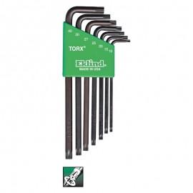 Set chei profil TORX   lungi  TX10-TX40  7 piese  EKLIND SUA