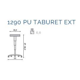 Scaun profesional 1290 Pu Taburet