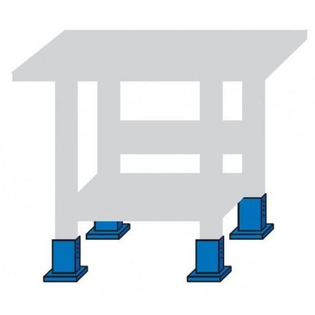 Kit cu 4 picioruse de reglare a inaltimi bancului de lucru