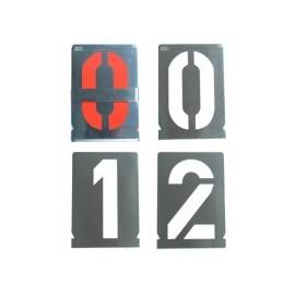 Sabloane marcare, 10 mm, cifre 0-9 (10 cifre), Gravurem