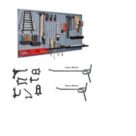 Kit 2 panouri perforate vertical/orizontal 800x600 pentru scule profesionale cu set 26 carlige