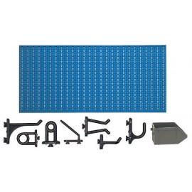 C2-3 Panou perforat orizontal albastru, 1000x500 mm cu set accesorii