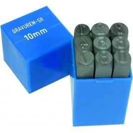 Set poansoane CIFRE de 2,5mm, pt miniatura
