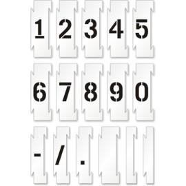 Set sabloane vopsire cifre 0-9 (10 cifre), 5-25 cm inaltime caracter.