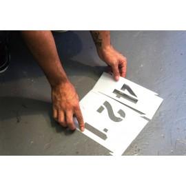 Set sabloane vopsire litere mari A-Z, 5-25 cm inaltime caracter.