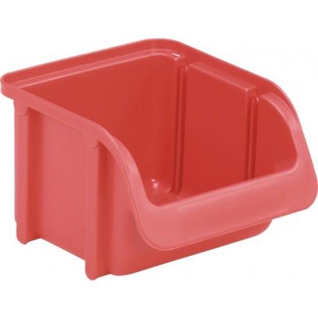 Cutie organizare/depozitare 100 mm x 75 mm x 115 mm, rosie
