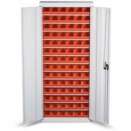 GAD 02 Dulap cutii cu usi organizare / depozitare piese 700x1800x260 mm