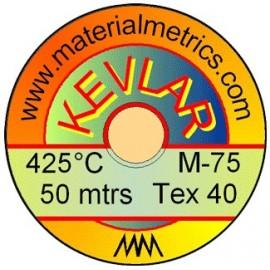 Fir natur din Kevlar pt pielarie, 0.2 x 50 metri, Tex-40
