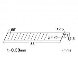 SET 10 LAME CUTTER DE TIP H DE 12.5MM NT Cutter