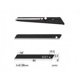 Set Cutter metalic / cutit utilitar mic NT Cutter - 9mm + 10 lame de schimb