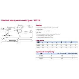 466/1BI Clesti taiere laterala pentru conditii grele, Unior
