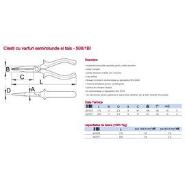 508/1BI Clesti/Patenti cu varfuri semirotunde si tais, Unior