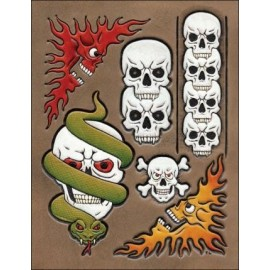 "Sablon pielarie ""Skulls 1"", Tandy Leather  SUA"