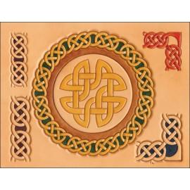 Sablon pielarie cercuri celtice, Tandy Leather  SUA