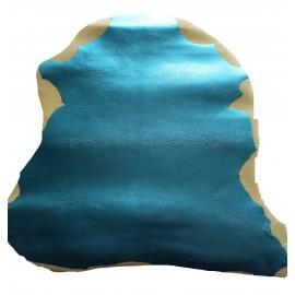 Piele capra captuseala/proiecte mici, albastru deschis metalizat