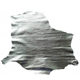 Piele capra captuseala/proiecte mici, argintiu