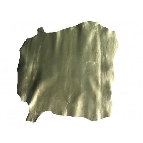 Piele capra captuseala/proiecte mici,verde deschis metalizat