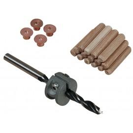 Set imbinare lemn cu dibluri  Ø8 mm   Wolfcraft
