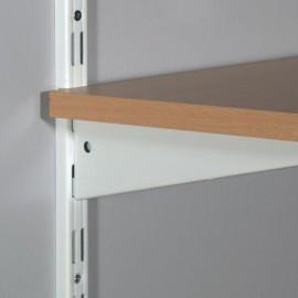 Sina dubla de perete Dolle Double Slot 1995mm, alba, pentru rafturi modulare