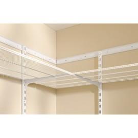 Sina simpla de perete Dolle Single Slot 1495mm, alba, pentru rafturi modulare