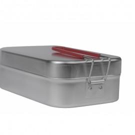Gamela cu maner rosu si capac camping/outdoor Trangia, 200 x 130 x 70 mm