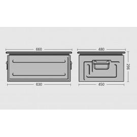 Cutie depozitare metalica vopsita/zincata -212x140x130 mm