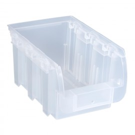 Cutie organizare/depozitare transparenta, 155x235x125 mm
