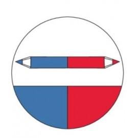 Creion rosu-albastru RBB,  SOLA