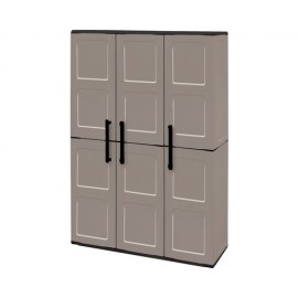 Dulap utilitar plastic 3 uși Free 1020x370x1630 mm, cu 3 polițe și spațiu pentru unelte înalte