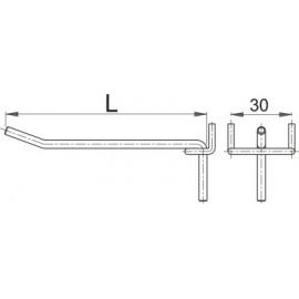 Carlig metalic pentru panou profesional de scule 80 mm Unior