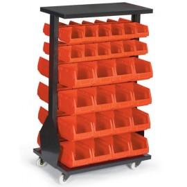 MAT 20 Stand mobil cutii organizare / depozitare piese
