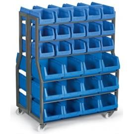 MAT 30 Stand mobil cutii organizare / depozitare piese