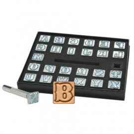 8131-00 Set stante embosare piele ALFABET litere mari de 19mm.