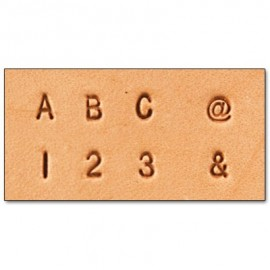 8137-10 Set stante embosare piele LITERE si CIFRE 3mm.